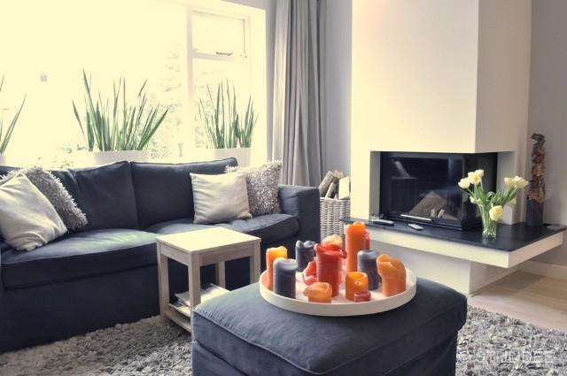 Woonkamers Grijs: Grijze woonkamer meubels wit met grijs arti ...