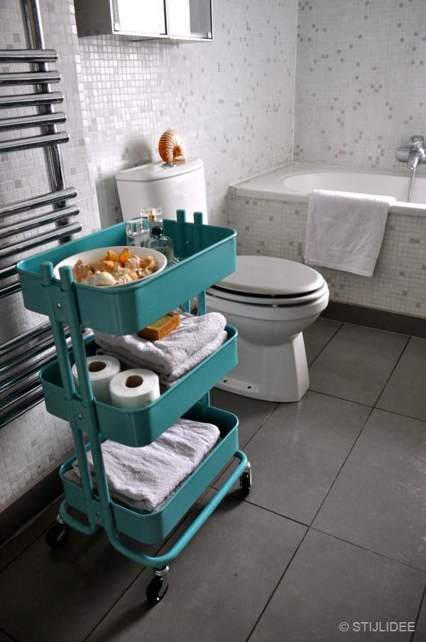 Mooiste Badkamertegels ~ TOP 10 Multifunctionele turquoise trolley past in iedere ruimte