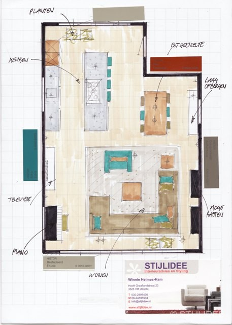 Stijlidee interieuradvies en styling door interieurstylist - Interieurontwerp thuis kleur ...