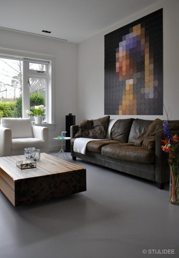Binnenkijken in een jaren 30 familiehuis met moderne gietvloer in bilthoven for Kleur moderne volwassen kamer