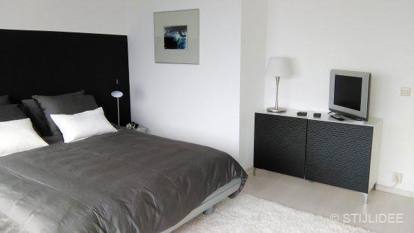 Slaapkamer Zwart Wit Grijs: Zwart wit grijs slaapkamer kinderkamer.